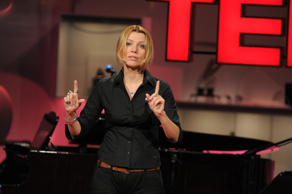 Elif Shafak, Novelist, during TEDGlobal 2010 Session 3: Found in Translation, July 2010 in Oxford, England. Credit: James Duncan Davidson / TED